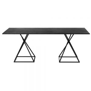 Jane Hamley Wells BB_BB8102_A modern indoor outdoor rectangle dining table granite powder-coated square base