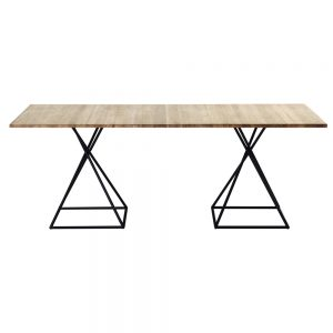 Jane Hamley Wells BB_BB8112_A modern indoor outdoor rectangle dining table teak powder-coated square base
