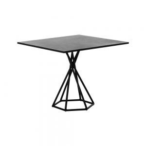 Jane Hamley Wells BB_BB8201_A modern indoor outdoor square dining table granite powder-coated hexagon base