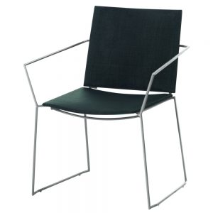 Jane Hamley Wells BB_BB9103-SS_A comtemporary outdoor stacking restaurant armchair mesh seat stainless steel