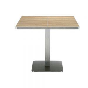 Jane Hamley Wells KURF_8701 luxury modern outdoor square dining table teak stainless steel
