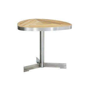 Jane Hamley Wells KURF_8708 luxury modern outdoor triangle side table teak stainless steel