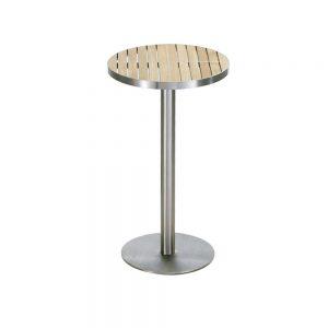 Jane Hamley Wells KURF_8709 luxury modern outdoor round bar table teak stainless steel